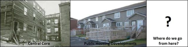 slum housing and public housing