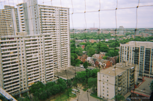 A view from one of the apartments in St. James Town