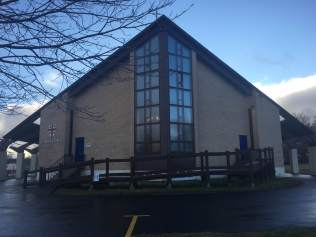 Front View of St. Augustine's - with classic 1960's arcitecture